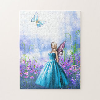 Princess Fae in Blue Jigsaw Puzzle