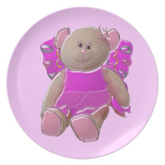 Princess Fairy Bear Dinner Plate