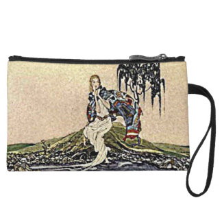 Princess Fairy by the River Illustration Wristlet Wallet