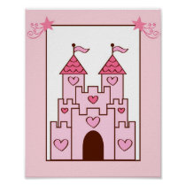 Princess Fairy Castle Nursery Wall Art Print