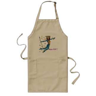 Princess Fairy Wand, Blue - Photo with YOUR - Long Apron