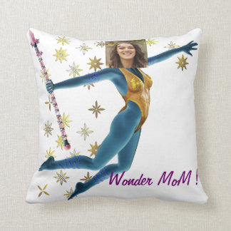 Princess Fairy Wand, Blue - Photo with YOUR - Throw Pillow