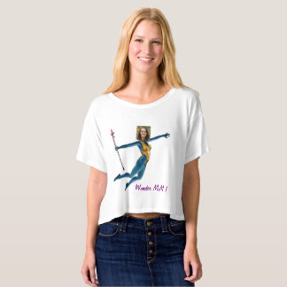 Princess Fairy Wand, Blue - with YOUR Photo - T-shirt