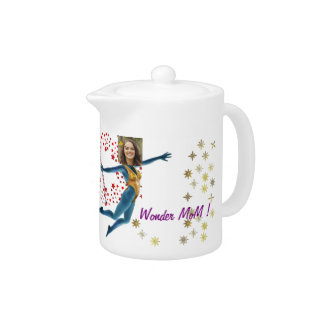 Princess Fairy Wand, Blue - with YOUR Photo - Teapot
