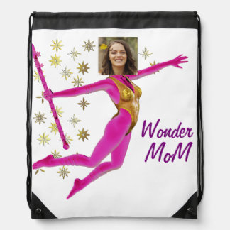 Princess Fairy Wand, Pink Fushia - with YOUR Pho Drawstring Bag