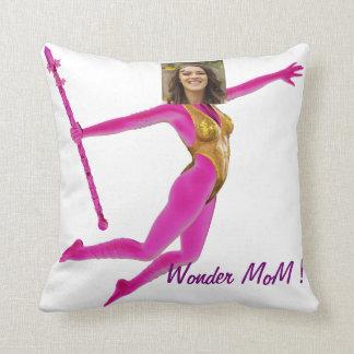 Princess Fairy Wand, Pink Fushia - with YOUR Pho Throw Pillow
