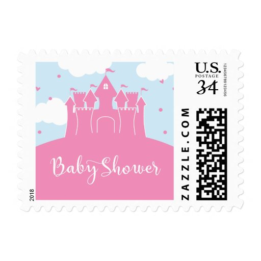 Princess Fairytale Castle Baby Shower Stamp