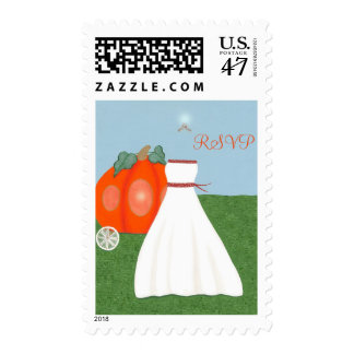 Princess FairyTale Pumpkin Carriage RSVP Stamps