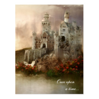 Princess Fantasy Castle Wedding Gifts Post Cards