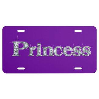 "Princess Faux-""Diamond"" Bling License Plate"