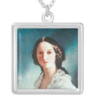 princess Feodora of Hohenlohe-Langenburg Square Pendant Necklace