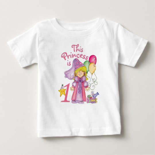 Princess First Birthday Baby T-Shirt