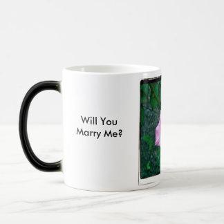 princess flower Will You Marry Me? Magic Mug