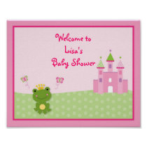 Princess Frog Baby Shower Welcome Sign
