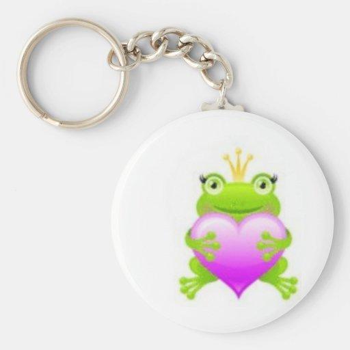 Princess Frog Basic Round Button Keychain