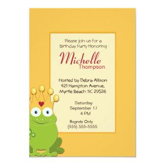 Princess Frog  Birthday Invitations