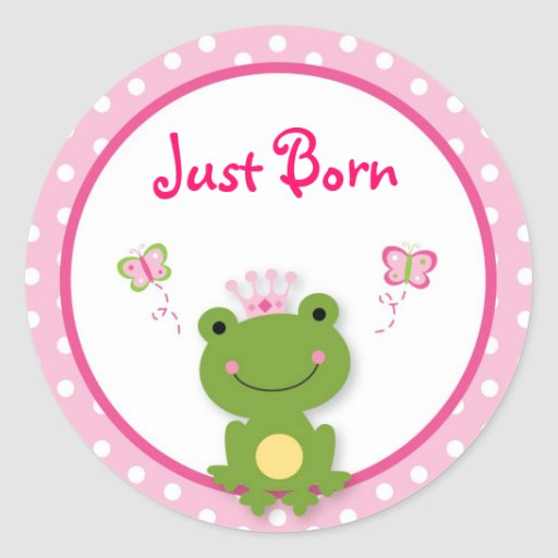 Princess Frog Butterfly Monthly Milestone Stickers