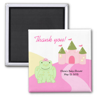 Princess Frog Castle Baby Shower Favor Magnet