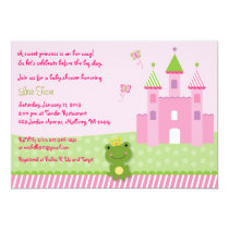 Princess Frog Castle Baby Shower Invitation