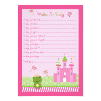 Princess Frog Castle Wishes for Baby Advice Cards