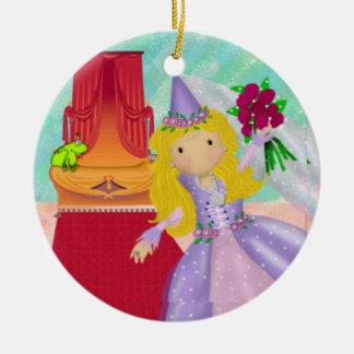 Princess & Frog Ceramic Ornament