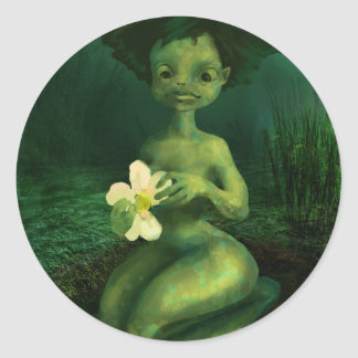 Princess frog classic round sticker
