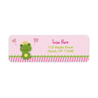 Princess Frog Fairy Tale Address Labels