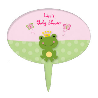 Princess Frog Fairy Tale Baby Shower Cake Topper