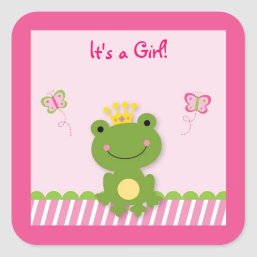 Princess Frog Fairy Tale Envelope Seals Stickers