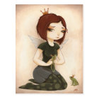 PRINCESS FROG fairy tale kiss Postcard