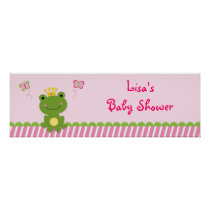 Princess Frog Fairy Tale Personalized Banner Sign Poster