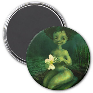 Princess frog 3 inch round magnet