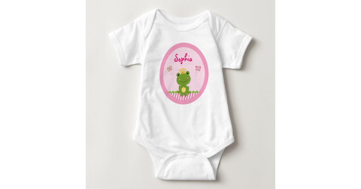 Princess Frog Personalized Baby T Shirt Zazzle