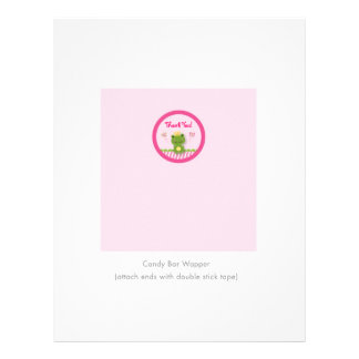 Princess Frog Personalized Candy Bar Wrappers Flyer Design