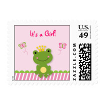Princess Frog Personalized Postage Stamps