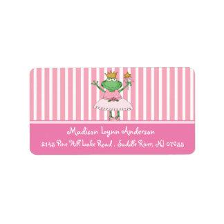Princess Frog Return Address Labels.