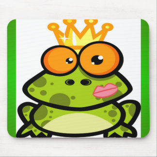 Princess Frog with a Golden Crown Mousepads