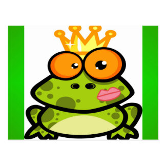 Princess Frog with a Golden Crown Postcard