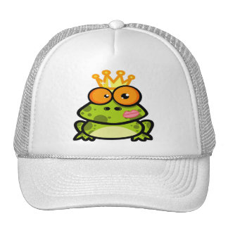 Princess Frog with a Golden Crown Trucker Hat
