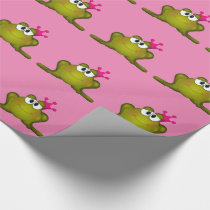 Princess Frog Wrapping Paper