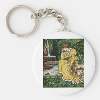 Princess from The Frog Prince Basic Round Button Keychain