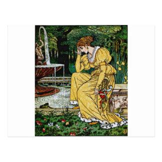 Princess from The Frog Prince Postcard