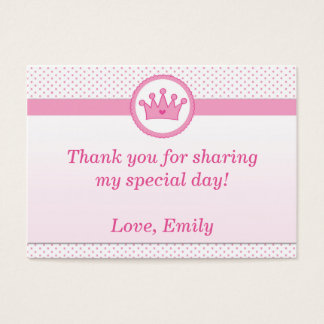 Princess Gift Favor Label Thank You Tag Pink