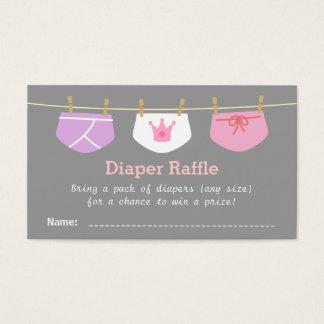 Princess Girl Baby Shower, Diaper Raffle Tickets