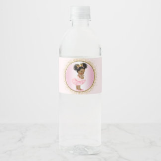Princess Girl Baby Shower Water Bottle Labels