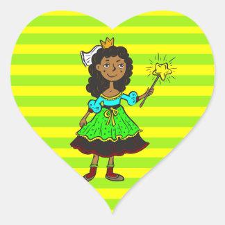 Princess Girl Heart Sticker