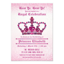 Princess Girl's Birthday Party Invitations