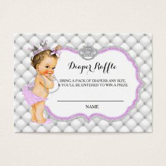 Princess Glitter Diamonds Diaper Raffle Ticket