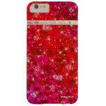 Princess Goddess Ruby Red Glitter Diamond Bling Barely There iPhone 6 Plus Case