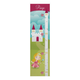 Princess Growth Chart Poster